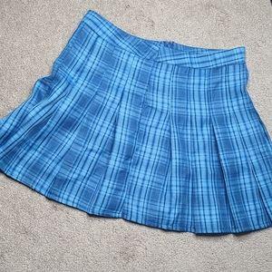 5/25 ❤ Shein plaid blue mini skirt